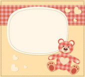 Card with the teddy bear for baby shower — Stock Vector
