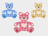 Set of color teddy bear — Stock Vector