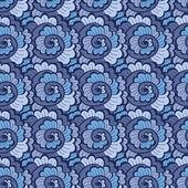 Seamless decorative wavy pattern blue — Stock Vector