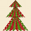 Christmas tree for scrapbooking 1 — Stockvektor