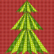 Stock Vector: Christmas tree for scrapbooking 5