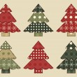 Christmas tree set 3 — Stock Vector