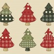 Christmas tree set 4 — Stock Vector