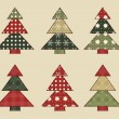 Christmas tree  set 5 — Stock Vector