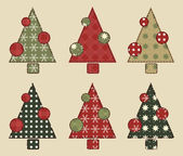 Christmas tree set 2 — Vecteur