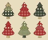 Christmas tree set 4 — Stock Vector