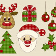 Set of pictures for christmas — Stock Vector