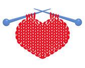 Coração de malha isolada — Vetor de Stock
