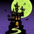 Royalty-Free Stock Vector Image: The scary castle
