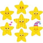 Patchwork stars — Stock Vector