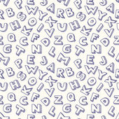 Scribble alphabet seamless pattern. — Stock Vector