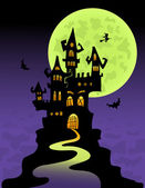 The scary castle — Stock Vector