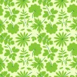 Royalty-Free Stock Vector Image: Green leaves seamless pattern.