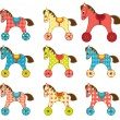 Set of patchwork horses 8. — Stock Vector #32585991