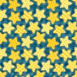 Children seamless pattern with stars — Stock Vector