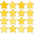 Set of patchwork stars — Stock Vector #39421781