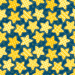 Stock Vector: Children seamless pattern with stars