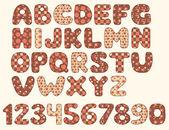 Vintage patchwork alphabet — Stock Vector