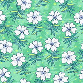 Beautiful flowers seamless pattern — Stock Vector