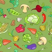Seamless pattern with vegetables green — Stock Vector