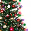 Decorated Christmas tree — Stock Photo #14698639
