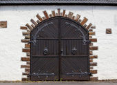 Old warehouse doors — Stock Photo