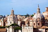 Roma igrejas e trajans coluna — Foto Stock
