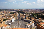 Vatican square of Saint Peter, Italy — Stock Photo
