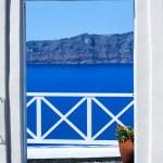 Fira the capital of Santorini island in Greece — Stock Photo #33560433