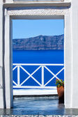 Fira the capital of Santorini island in Greece — Stock Photo
