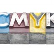 Cmyk made from metal letters — Stock Photo #26744739
