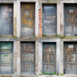 Collection of old wooden doors — Stock Photo