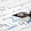 Old pen and letter — Stock Photo