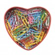 Heart made of paper clips with clipping path — Stock Photo #26745781
