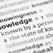 Stock Photo: Knowledge definition in dictionary