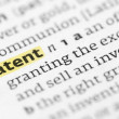 The word patent highlighted in a dictionary — Stock Photo