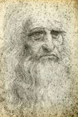 Leonardo da Vinci Self-Portrait, 1512 — Stock Photo