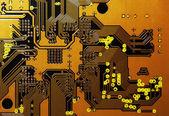 Orange Circuit Board — Stock Photo
