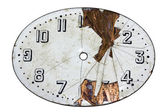 Damaged watch face with clipping path. — Stock Photo
