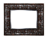 Old dark brown picture frame — Stock Photo