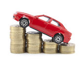 Saving money for a car — Stok fotoğraf