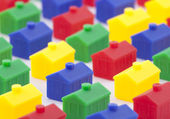 Colorful toy houses — Stock Photo