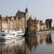 Old town waterfront over Motlawa river in Gdansk, Poland — Stock Photo #28583997