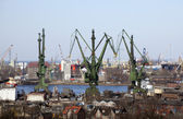 Shipyard in Gdansk, Poland — Stock Photo