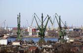 Shipyard in Gdansk, Poland — Stock Photo