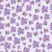 Seamless pattern with violets. — Stock Vector
