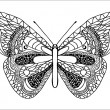 Stock Vector: Hand-drawn butterfly.