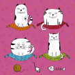 Royalty-Free Stock Vektorov obrzek: Cute cats.