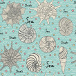 Royalty-Free Stock Vector Image: Seamless pattern with shells
