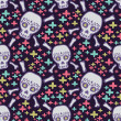 Seamless pattern with skulls — Stock Vector #30554137